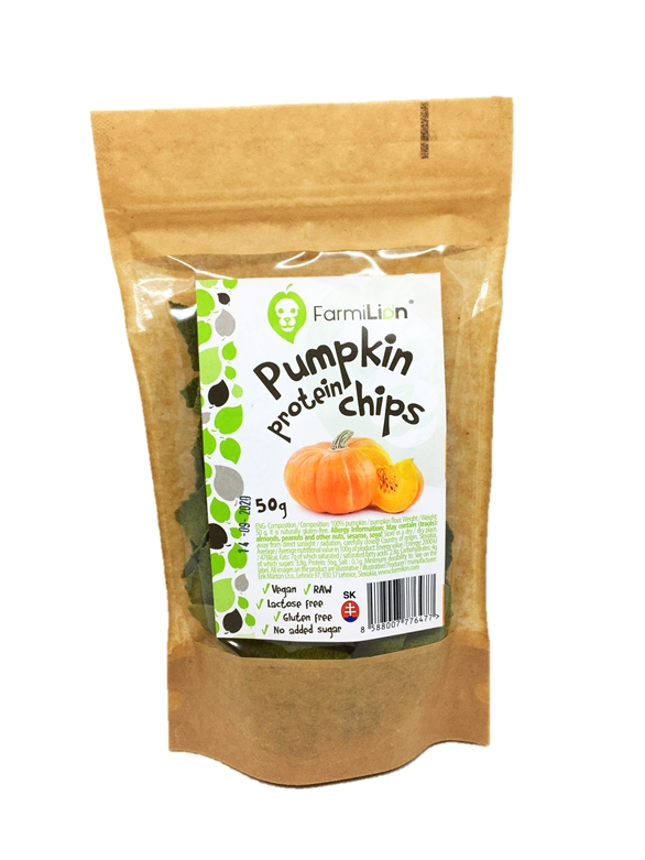 Pumpkin Protein Chips 100% VEGAN, 56% Protein RAW 50g